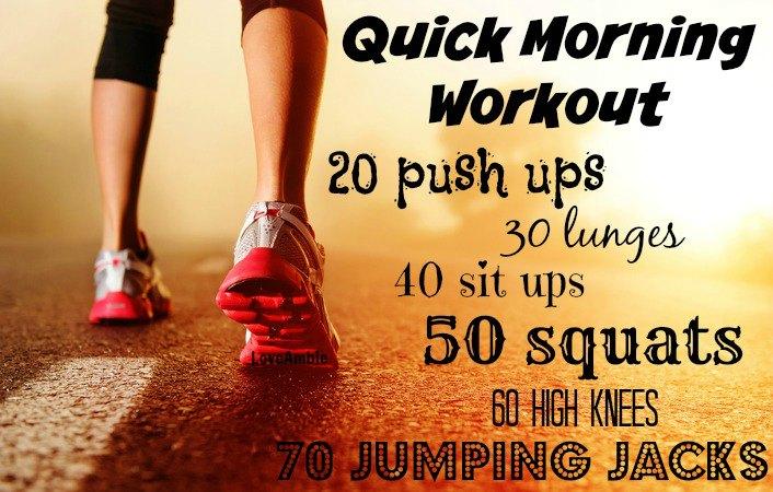 Quick Morning Workout Jumping Jacks