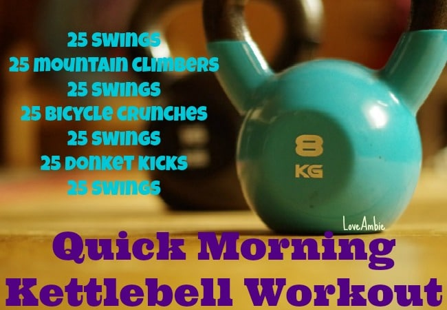 Quick Morning Kettlebell Workout