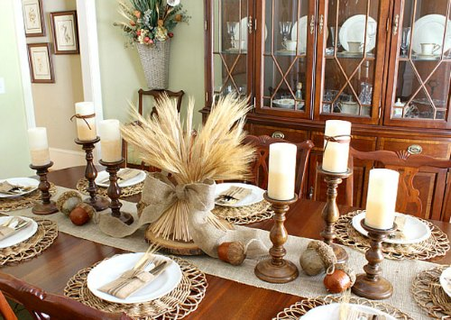Thanksgiving Centerpiece Table Decorations - Elegant