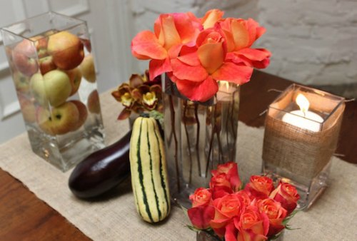 Thanksgiving Decoration Ideas - modern cornucopia centerpiece