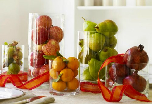 Thanksgiving Decoration Ideas - modern fruit centerpieces