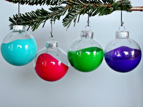 DIY Christmas Ornament - Paint Dipped Ornaments