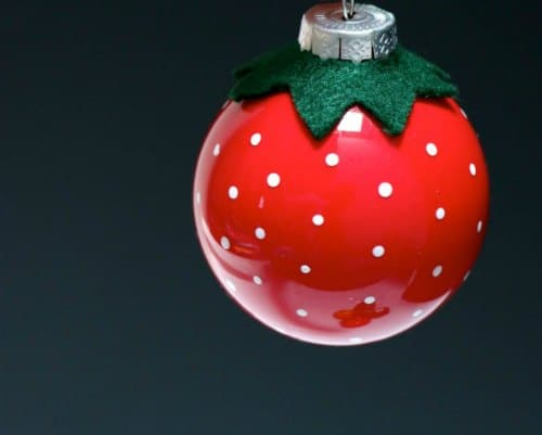 DIY Christmas Ornament - Delicious Strawberry Ornament