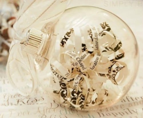 DIY Christmas Ornament - Verse Ornament