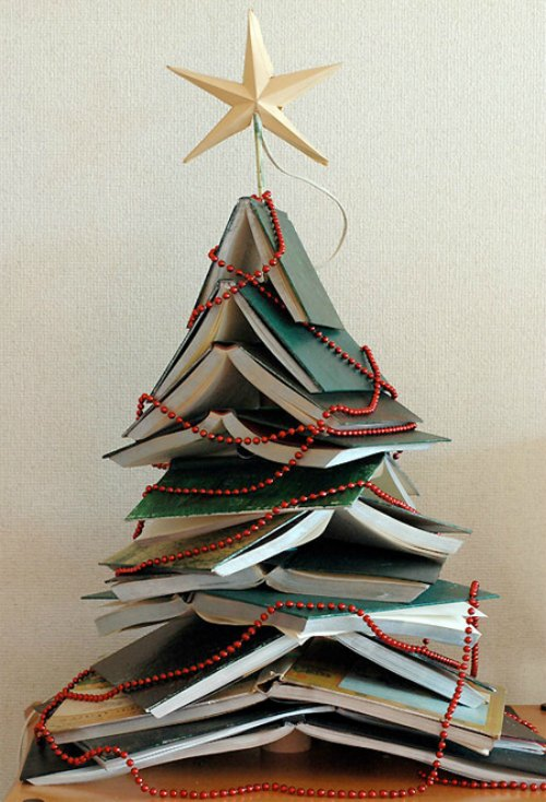 Book Christmas Tree Decoration