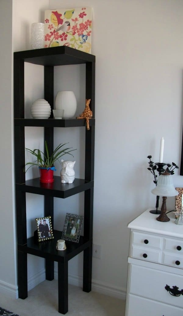 Corner Bathroom Shelf Idea - White Floating Shelf