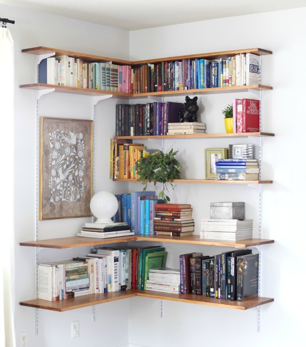Corner Shelving - DIY Thin Wood Floating Shelves