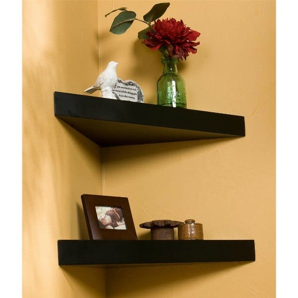 Corner Shelf Design - Small Triangular Floating Shelf