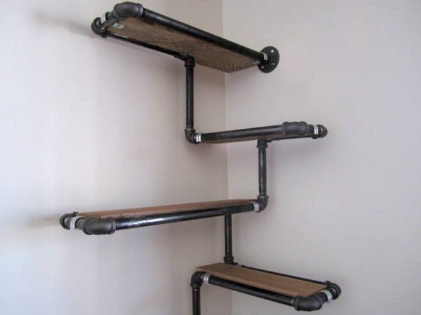 Corner Shelf Idea - DIY Industrial Corner Shelf