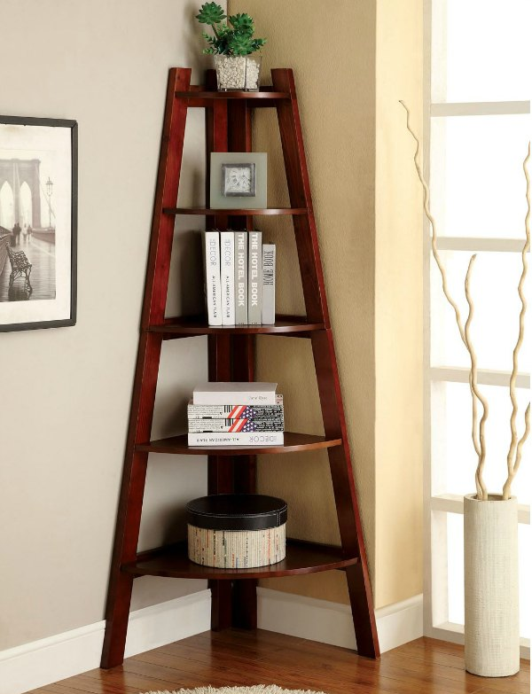 Corner Shelf Ideas - Corner Bookshelf