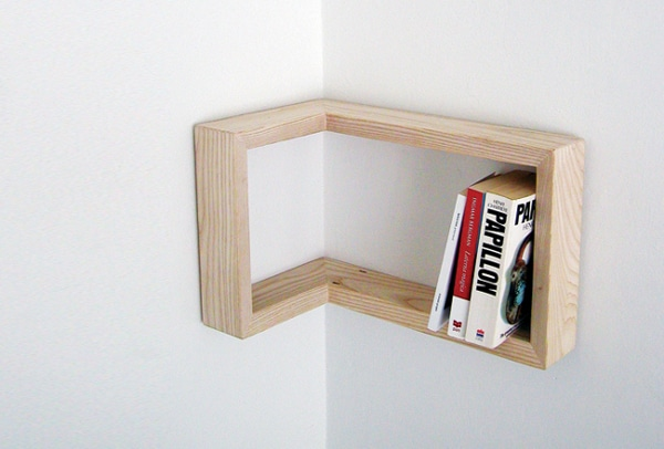 Corner Shelf Ideas - L-Shaped Small Corner Shelf