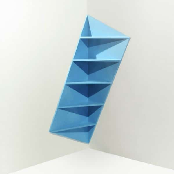 Corner Shelf - Modern Colorful Inlay