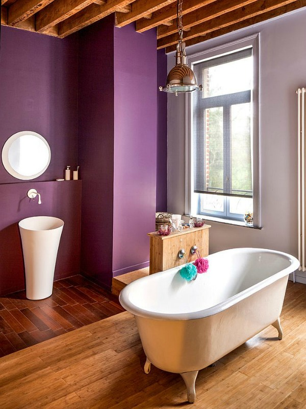 Bathroom Ideas - Purple Bathroom