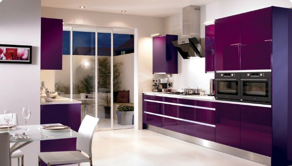 Extravagant Purple Kitchen