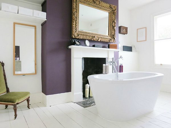 Purple Bathroom Decor - Purple Accent Wall