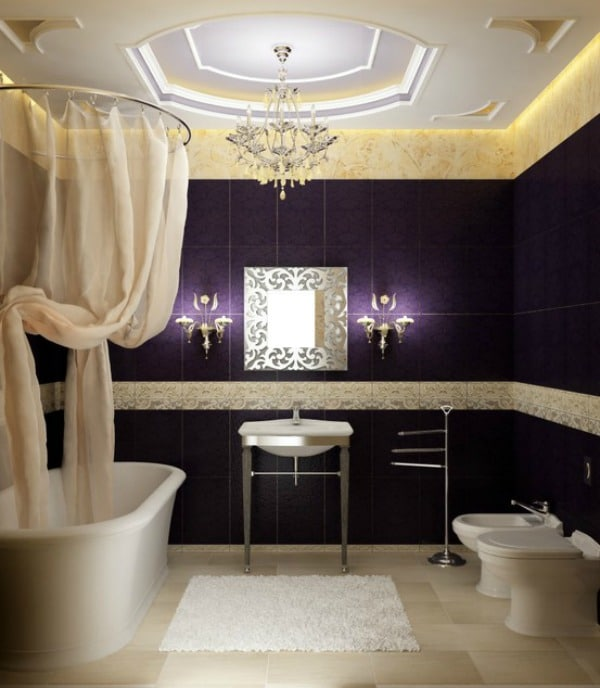 Purple Bathroom Ideas - Purple Tiles