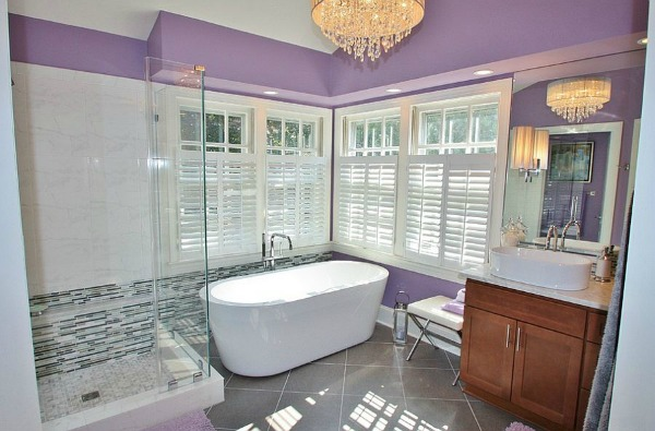 Purple Bathroom Ideas - Purple and White Decor