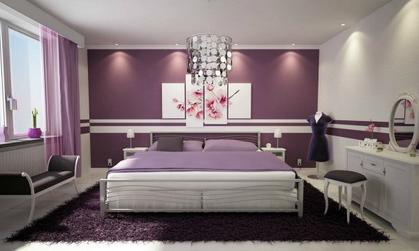 Purple Bedroom Decor - Purple Master Bedroom