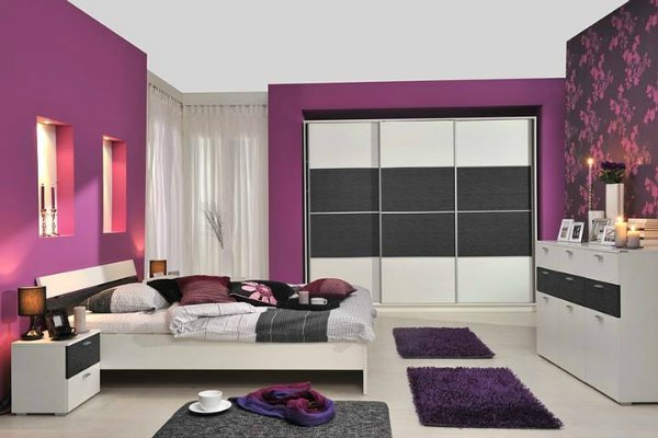 Purple Bedroom Decor - Purple Wallpaper