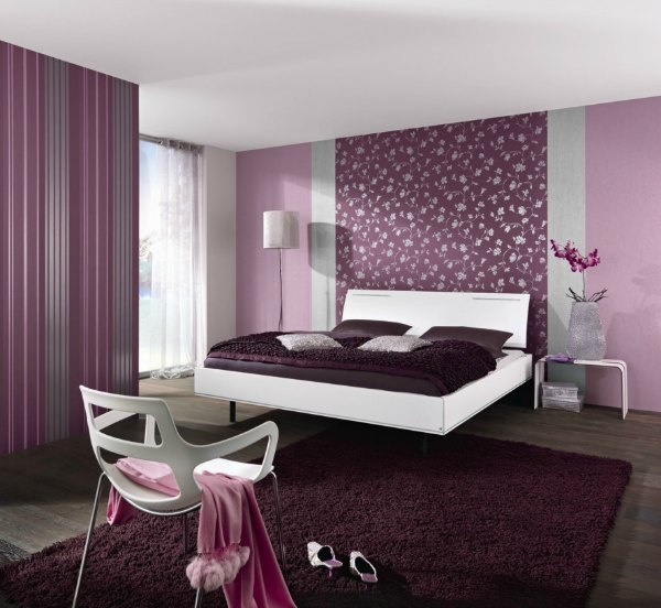 Purple Bedroom Ideas - Purple Wallpaper