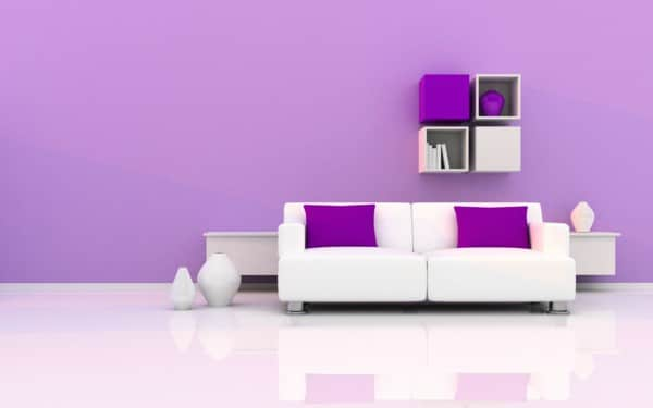 Purple Decor Ideas - Purple Accent Walls