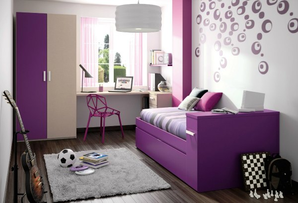 Purple Decor - Kids Bedroom with Purple furniture