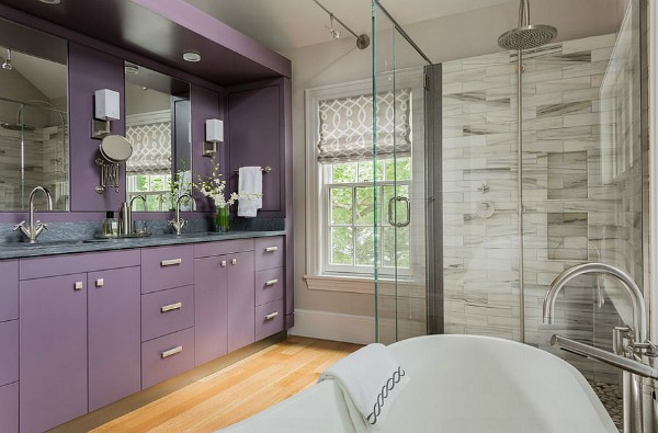 Purple Decor - Purple Bathroom Vanity