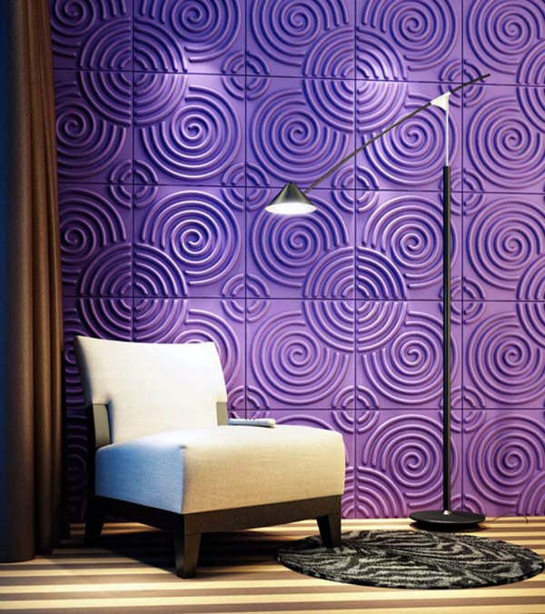 Purple Decorations - Purple Detailed Accent Wall