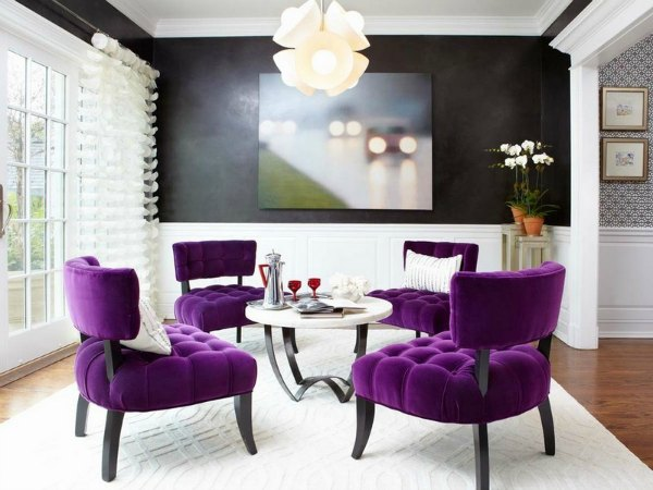 Purple Dining Room Decor - Purple Furniture