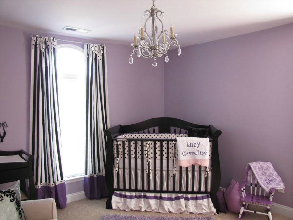 Purple Kid Room Decor - Purple and Black Nursery
