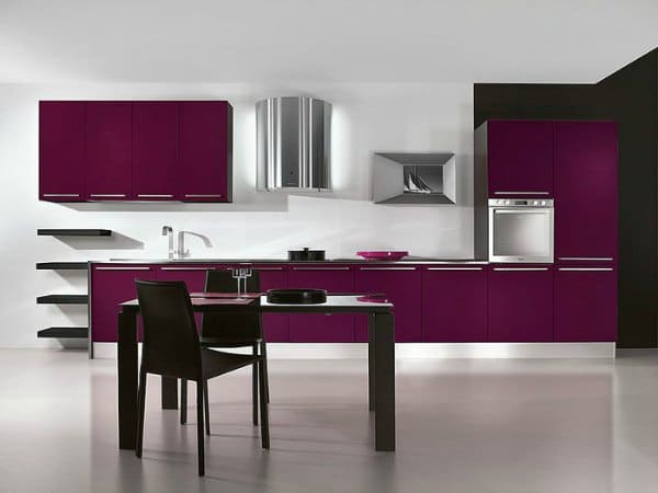 Purple Kitchen Decor - Deep Purple Kitchen Design