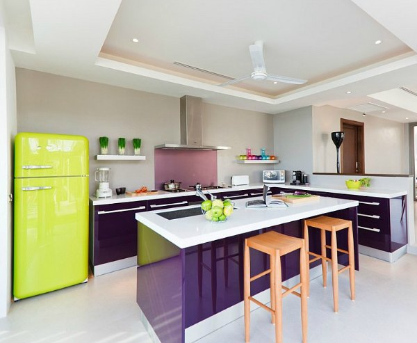 Purple Kitchen Ideas - Purple Cabinets