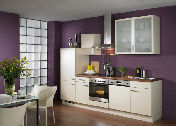 Purple Kitchen Wall Design
