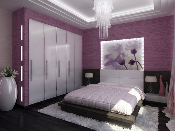 Purple Master Bedroom Ideas - Modern Purple Bedroom