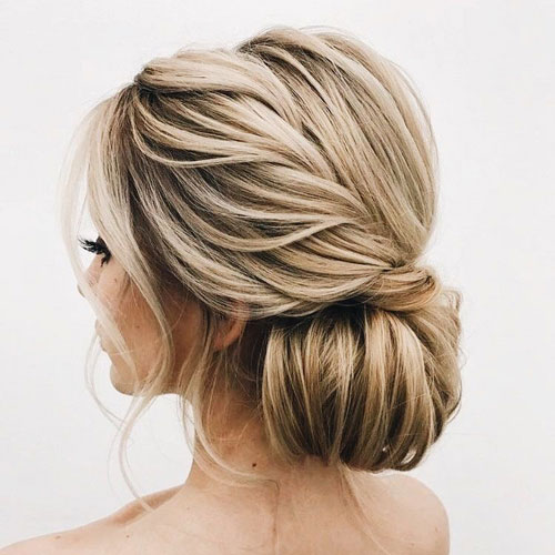 Elegant Twisted Low Bun