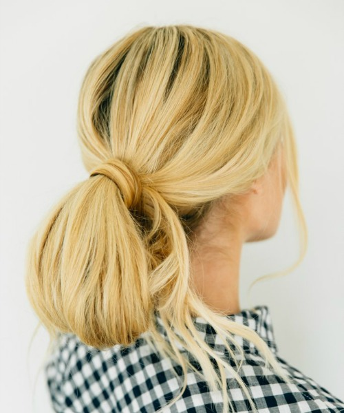 Loose Low Bun Updo