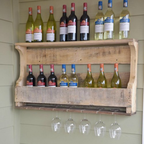 Natural Pallet Wood Wine Rack