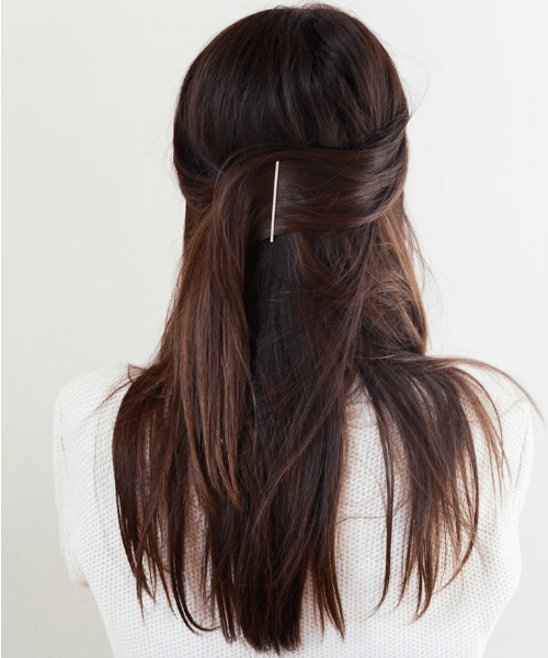 Simple Side Pull Back Hairstyle