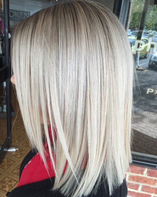Lob Hairstyle - Long Bob with Thin Hair