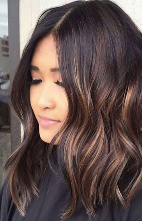 Lob Hairstyle Wavy Long Bob Hair