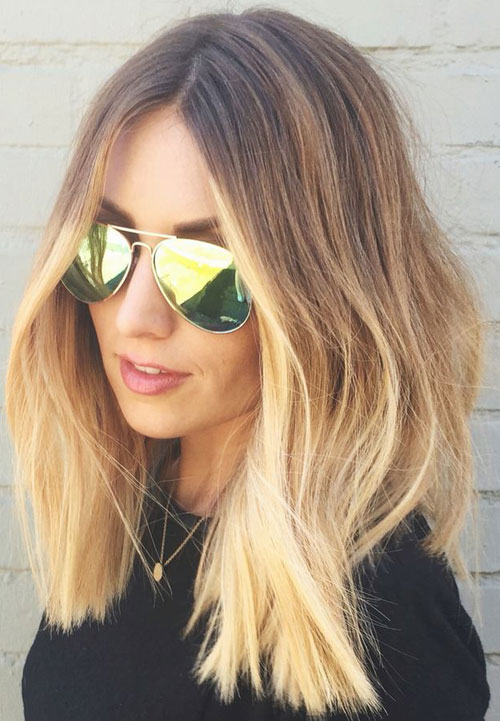 Lob Hairstyles - Ombre Long Bob