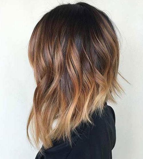 Long Bob Hair - Balayage Lob