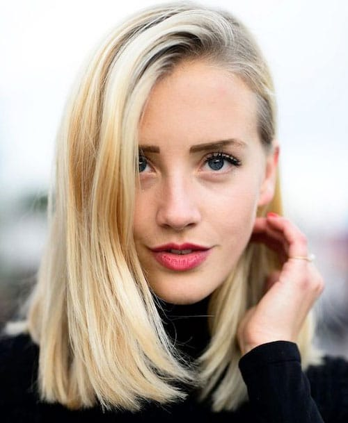 Long Bob Hairstyles - Classic Blonde Lob