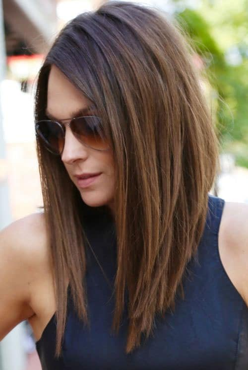 Long Bob Hairstyles - Extreme Lob