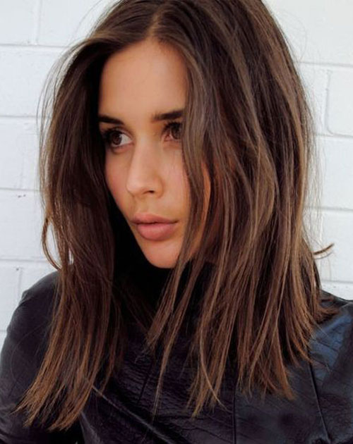 Long Bob Hairstyles - Straight Cut Lob
