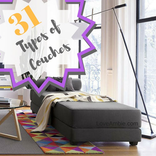 Pleasing 31 Types Of Couches And Sofas Love Ambie Uwap Interior Chair Design Uwaporg