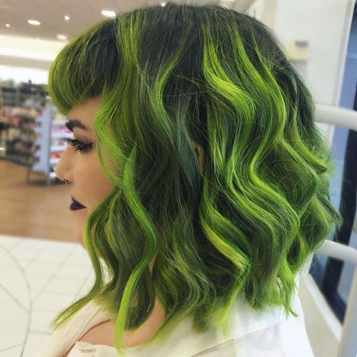 Amazing Green Hair Painting