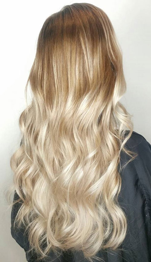 Beautiful Blonde Ombre Hairstyle