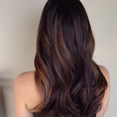 Brown + Black Balayage Hair