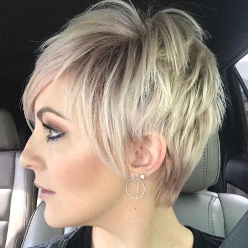 Blonde Balayage Pixie Cut